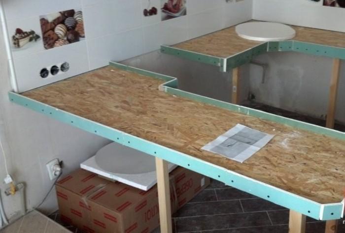 Подготовка на основата за полагане на плочки.