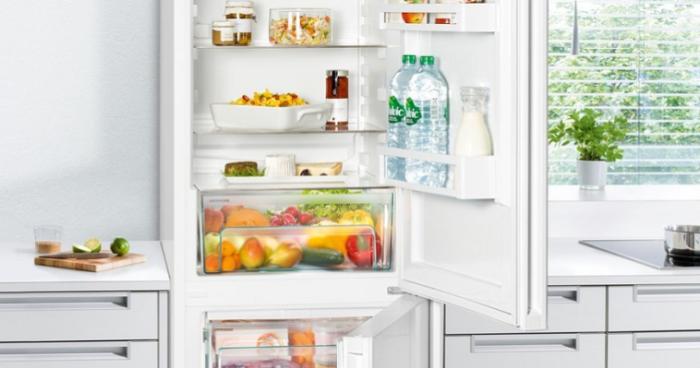zone fraîche dans un réfrigérateur moderne.