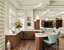 comptoir de cuisine avec fonction table