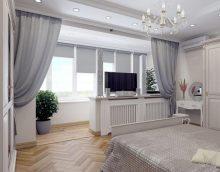 chambre design avec balcon