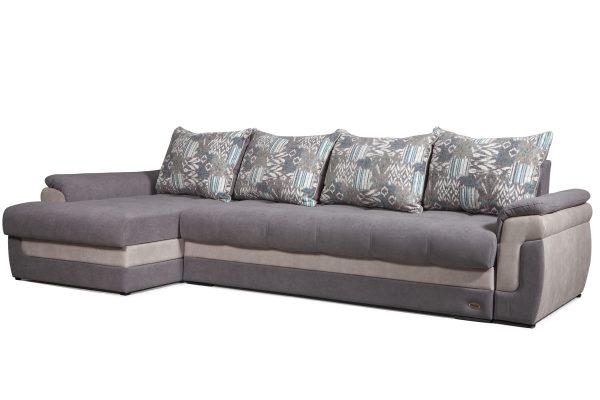 Canapé d'angle en tissu floqué