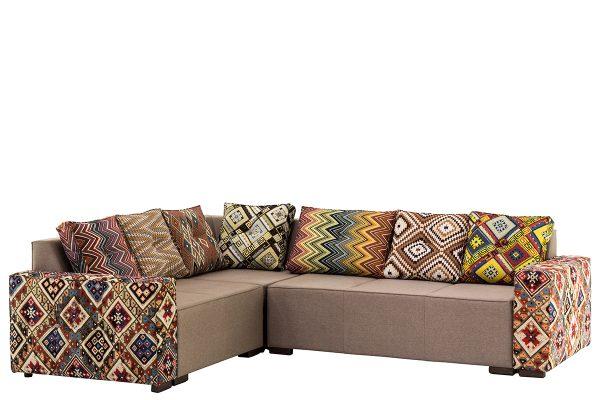 Canapé d'angle tapisserie