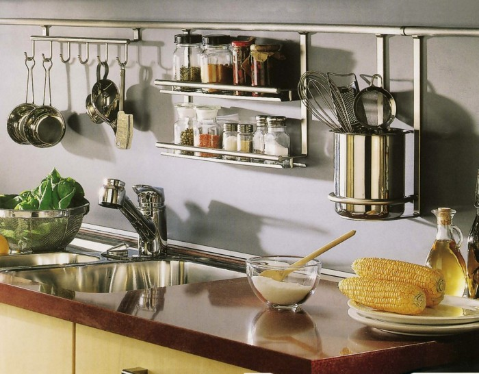 Garde-corps dans la cuisine.