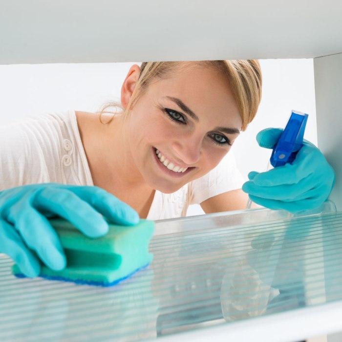 Laver le frigo congélateur.