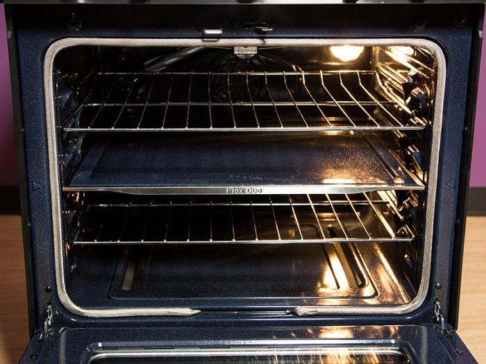 Four dans une cuisinière à gaz.