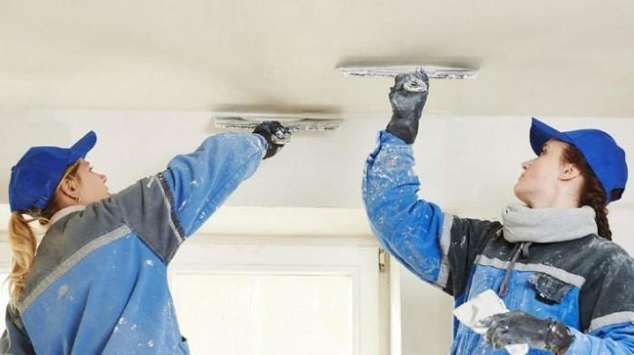 préparation du plafond.