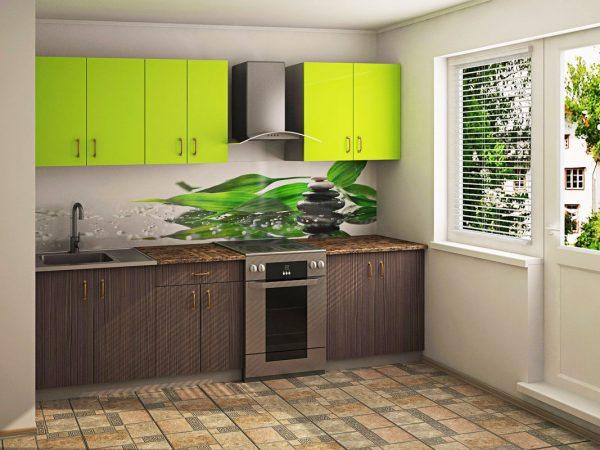 Comptoir en acrylique à l'intérieur de la cuisine