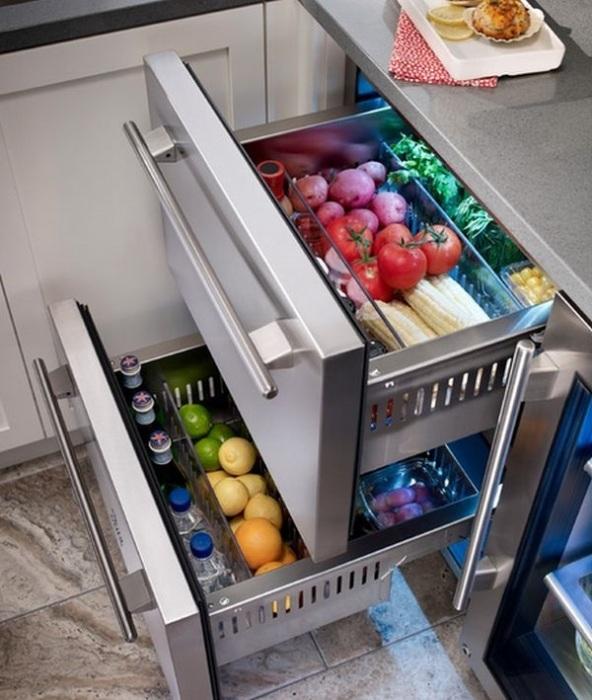 Zone fraîche dans le réfrigérateur.