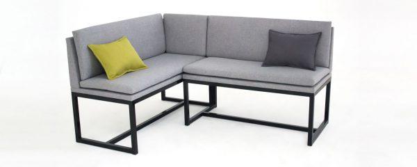 Canapé d'angle confortable et élégant dans la cuisine