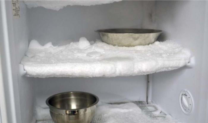 Glace dans le réfrigérateur.