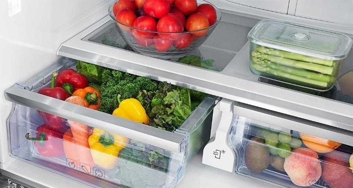 Zone de fraîcheur dans les réfrigérateurs.