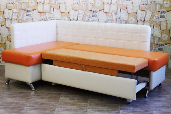 Sofa with a berth.