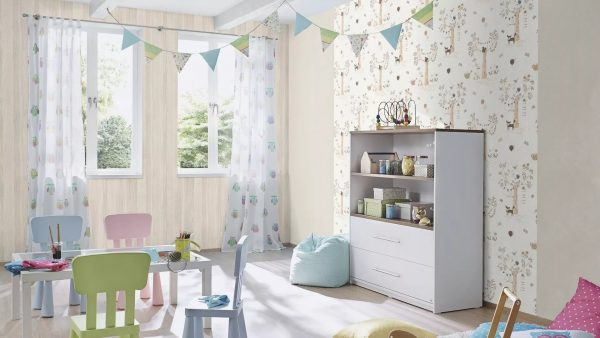 Paper wallpapers have a huge assortment, easily stick and are a budget option.