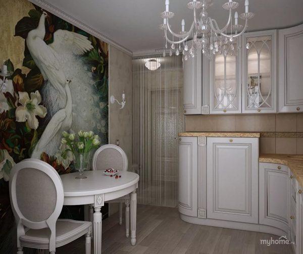 Stilīga un eleganta balta virtuve