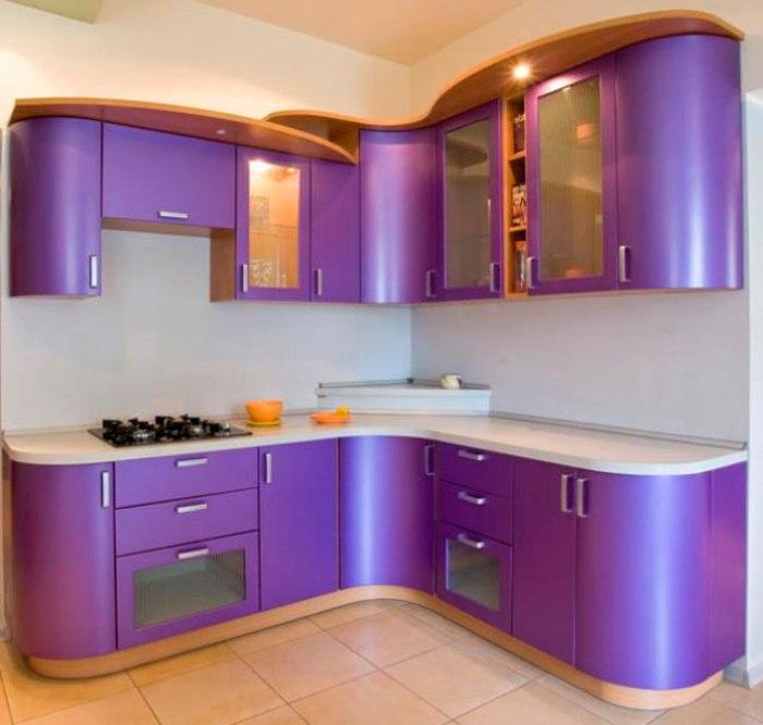 Cuisine violette.