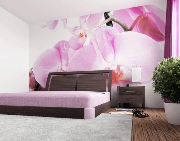 Le papier peint dans la chambre à coucher est très populaire