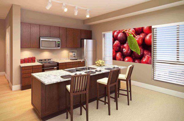 kuhinja nije mjesto samo za kulinarske fantazije - ovdje obitelj provodi većinu vremena, stoga udobnost treba biti prisutna