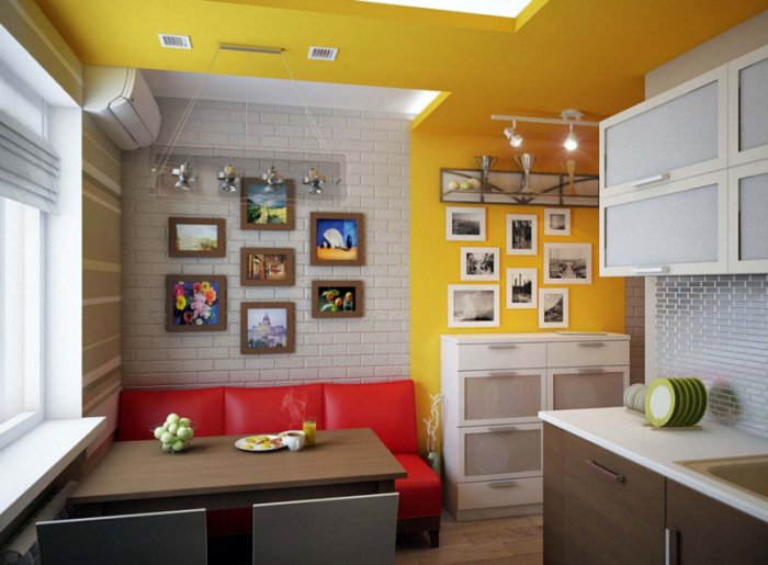 kitchen with sofa.