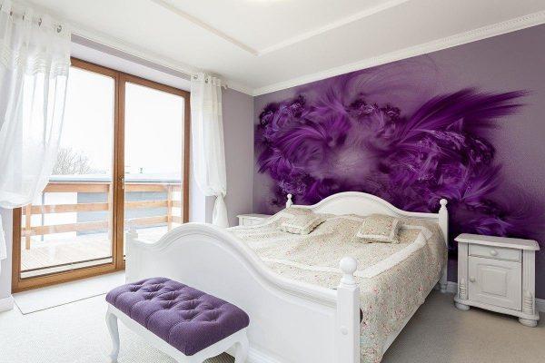 Le choix de papier peint pour la chambre à coucher est énorme - choisissez le meilleur