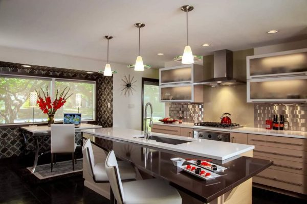 The kitchen is the gathering place of the family. She should look gorgeous