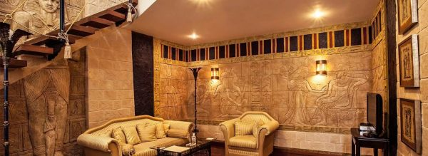 Allows you to give the living room a sense of luxury and wealth in which the ancient pharaohs lived