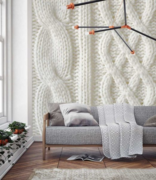 More recently, the Scandinavian style has come into fashion, and with it knitted fabrics.