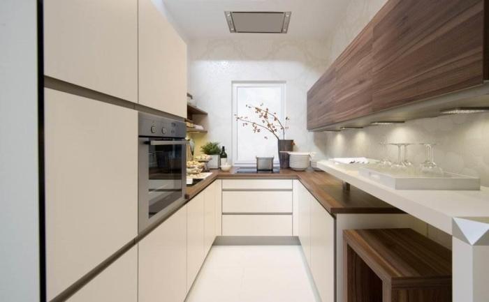 Mazs virtuves dizains.