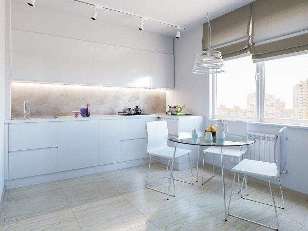 Avec un style minimaliste, les rideaux romains sont appropriés.