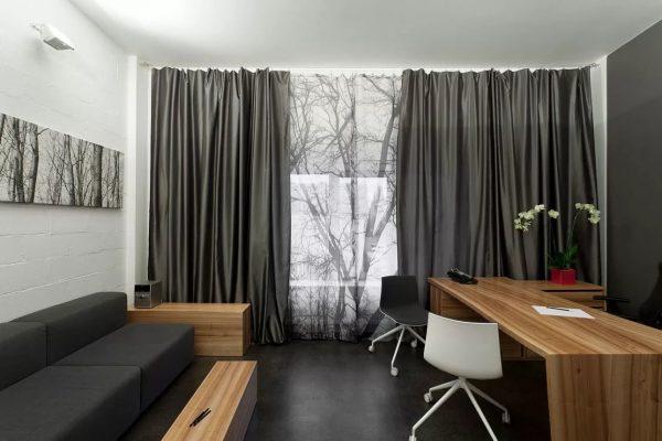 Rideaux gris - élégance, respectabilité, sophistication et luxe de votre maison.
