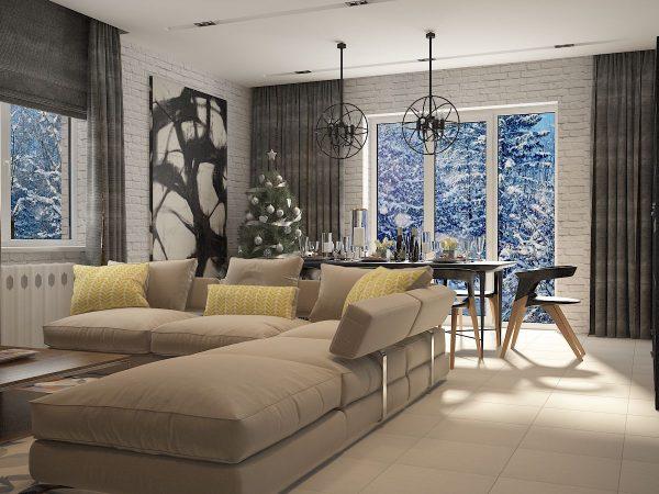 Salon - une excellente option pour montrer leurs capacités de conception dans leur intégralité.