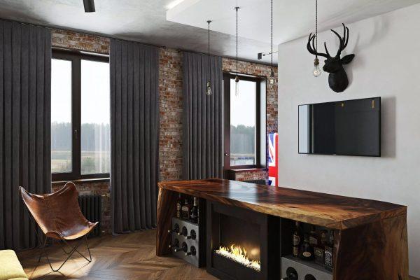 Le salon doit correspondre pleinement au caractère des propriétaires de l'appartement.