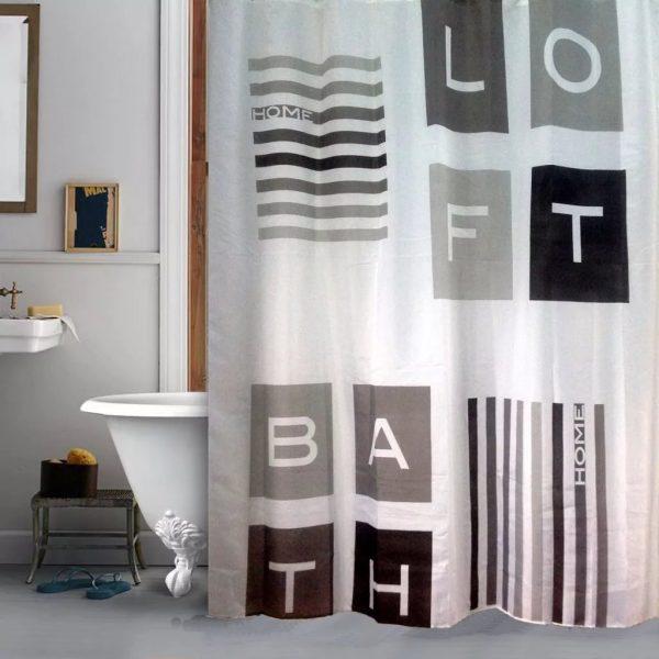 Rideaux pour une salle de bain dans le style Loft