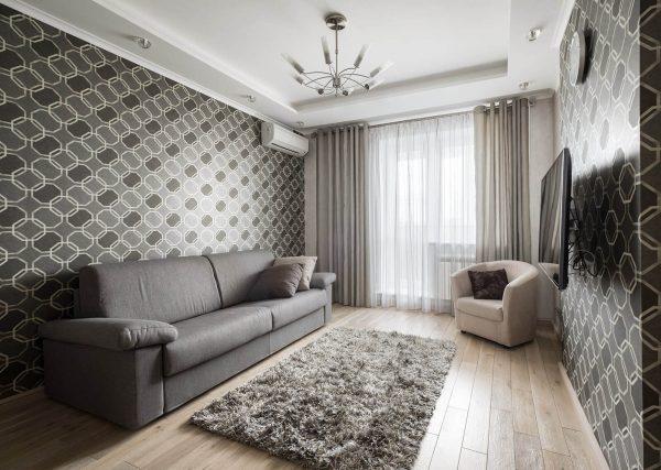 Si vous ne pouvez pas décider, prenez les rideaux pour la couleur du canapé