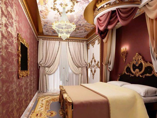 Le style baroque se distingue par un luxe particulier et une finition dorée. Les rideaux français en satin, soie ou taffetas sont idéaux dans ce cas.