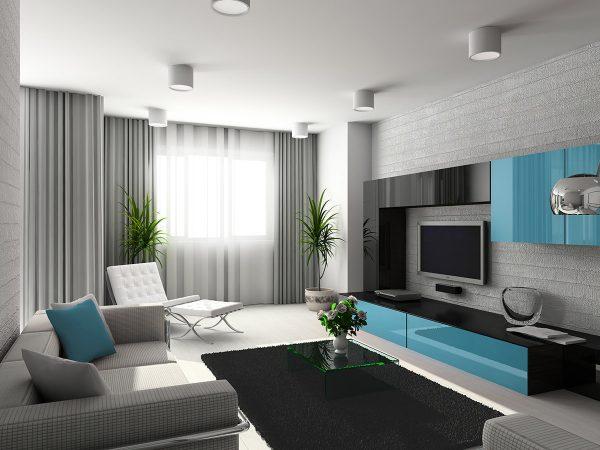 Comme dans toute direction moderne, l'élégance et la simplicité sont ici appréciées. Même les rideaux les plus simples peuvent monter.