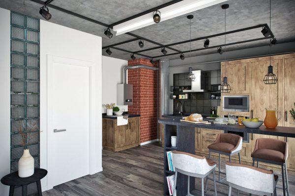 Style Loft dispose de hauts plafonds