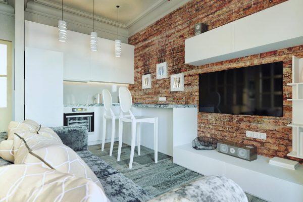 Appartement de style loft doit être bien éclairé