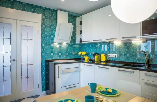 With the help of bright wallpapers you can achieve a bold and stylish interior design that will emphasize your taste.