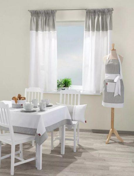 Rideaux de cuisine de style champêtre