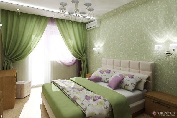 Les papiers peints verts ont un effet bénéfique sur le système nerveux humain: ils apaisent et relaxent.