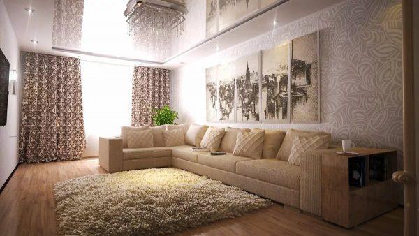 Norėdami sukurti subtilų dizainą klasikiniu, šalies ar provenso stiliumi, papildykite smėlio spalvos tapetą šviesiomis pastelinėmis spalvomis. arba raštuotas