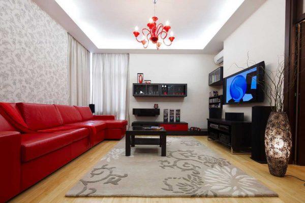 Ištyrę sėkmingus spalvų ir rūšių derinius, salėje deriname skirtingų stilių tapetai.