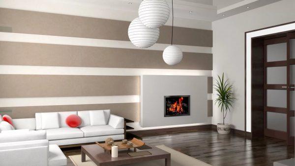 Daugiau dizainerių linkę manyti, kad modernizuotame interjere būtina tuo pačiu metu derinti kelių rūšių sienų dangą vienam kambariui.