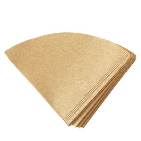 Neapstrādāts papīrs, parasti brūns vai gaiši brūns. Labākā filtrēšanas iespēja, novēršot svešu garšu un smaku parādīšanos dzērienā.