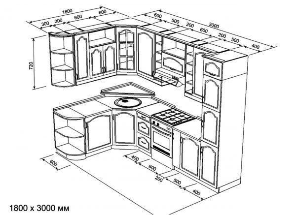 Couper - c'est le contour de tous les détails nécessaires de chaque élément de mobilier