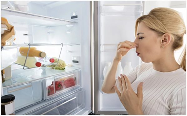 Unpleasant odors occur due to spills of liquid products, the remains of spoiled food.